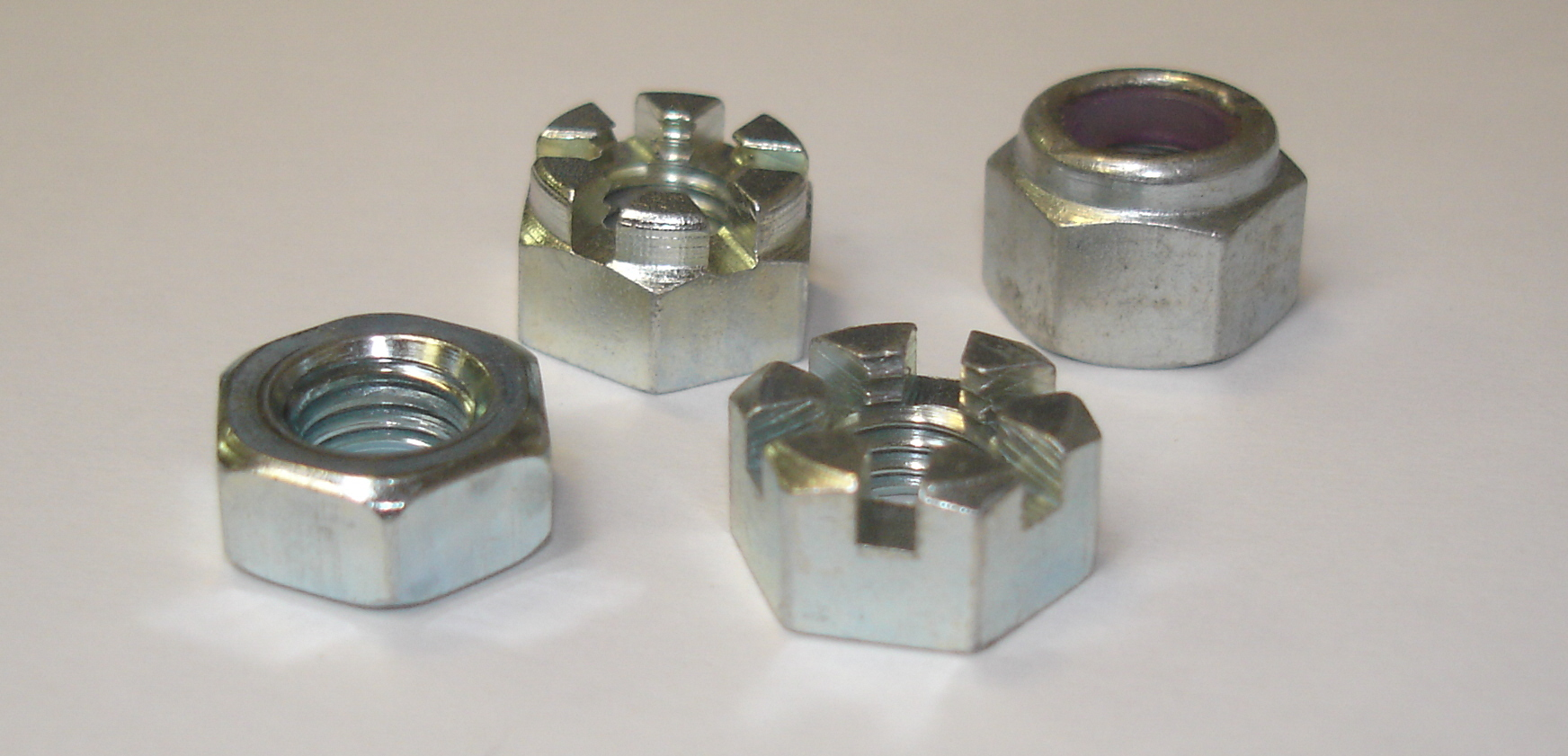 "Hexagon nut 3//8/"" Whitworth BSW Imperial pack of 10 steel,bright zinc plated"